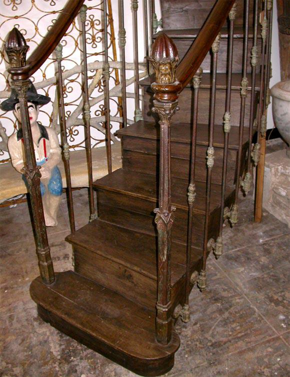 French 19th C. Hand Carved, Cast Iron Staircase   Image 4 Of 10