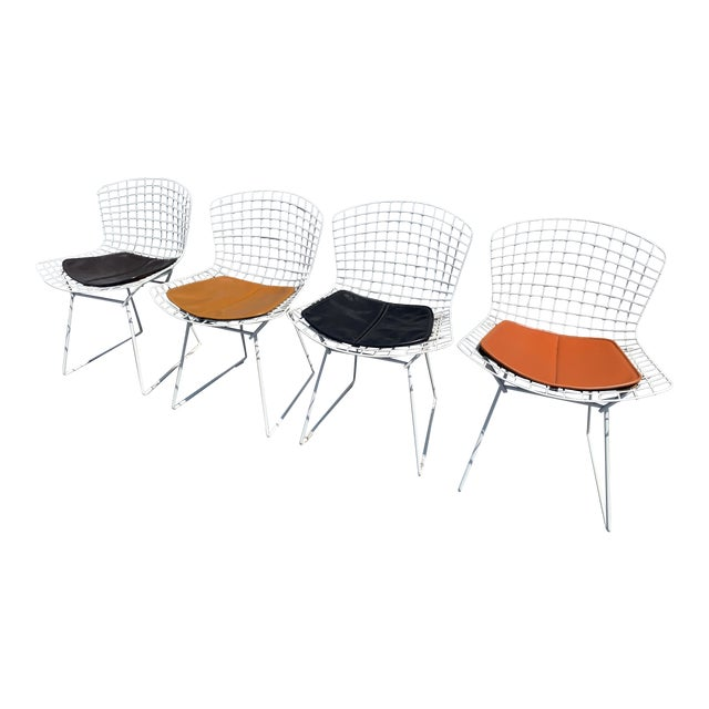 Vintage Mid Century Modern Dining Chairs by Harry Bertoia for Knoll - Set of 4 For Sale