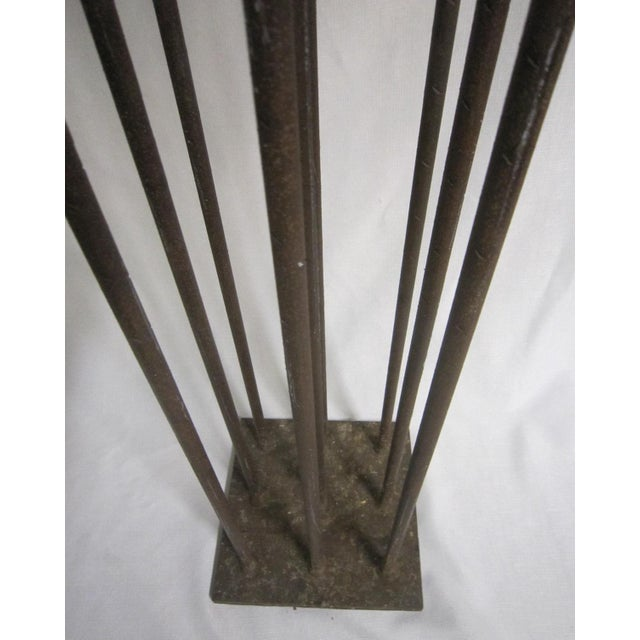 1960s 1960s Brutalist Floor Candleabra For Sale - Image 5 of 6