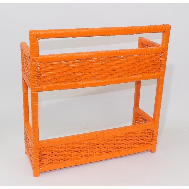 Orange Wicker Wall Shelf - Image 4 of 11