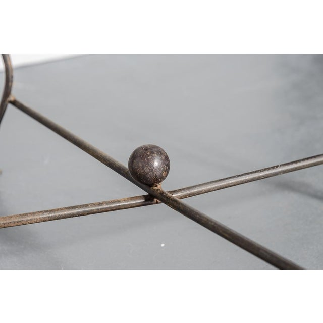 Modern Sculptural Iron Chair Hand Made by Unknown Artist For Sale - Image 10 of 11
