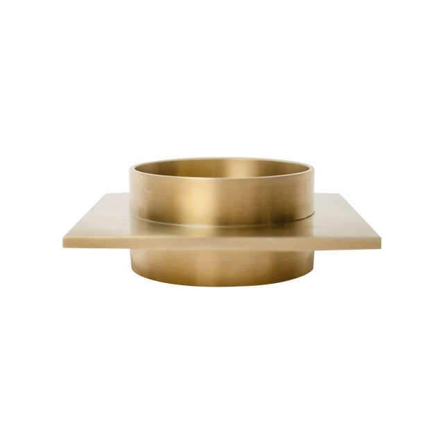Modern Contemporary 001 Ashtray Dish in Brass by Orphan Work For Sale