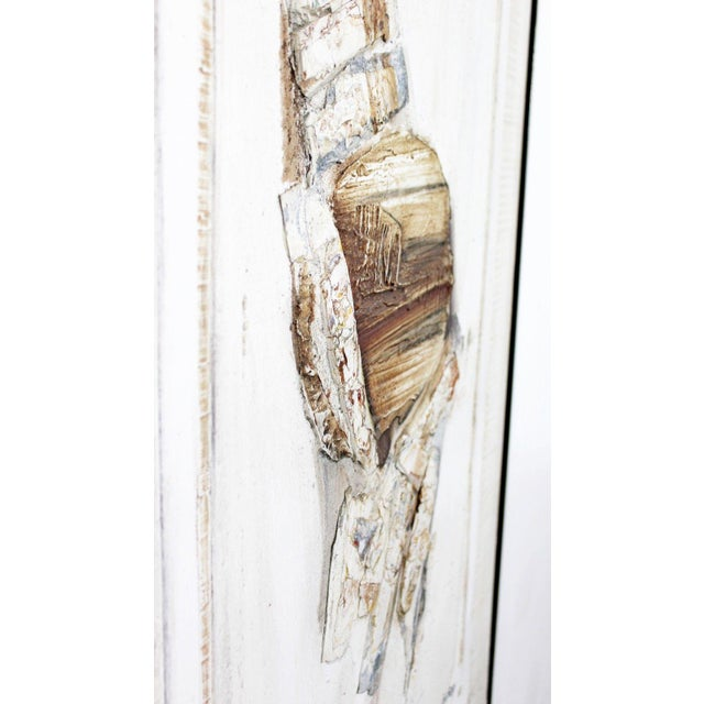 Brown Mid Century Modern Mixed Media Impasto Acrylic Abstract Painting by L. Biro For Sale - Image 8 of 10