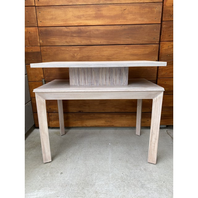 Ivory Whitewashed Side Table by Paul Frankl For Sale - Image 8 of 13