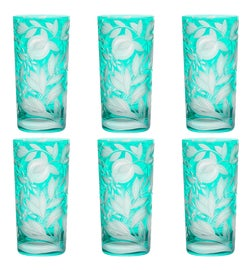 Image of Turquoise Cocktail Glasses