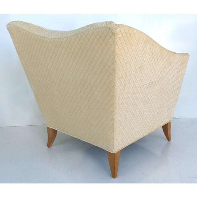 Early 21st Century Sculptural Upholstered Club Chairs Attributed to Donghia - a Pair For Sale - Image 5 of 11