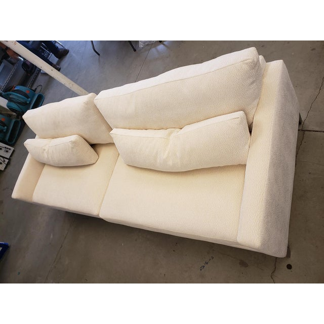 Wood Modern Kravet Cream Sofa For Sale - Image 7 of 8