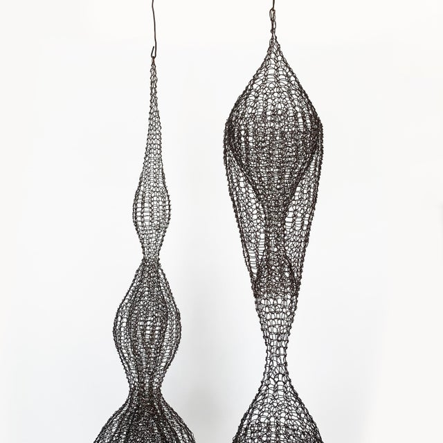 Abstract d'Lisa Creager Woven Wire Hanging Sculpture For Sale - Image 3 of 11