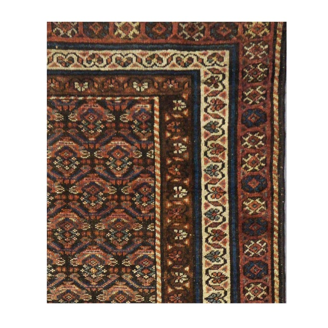 Islamic Antique Persian Kurdish Rug - 3'5'' x 6'6'' For Sale - Image 3 of 4