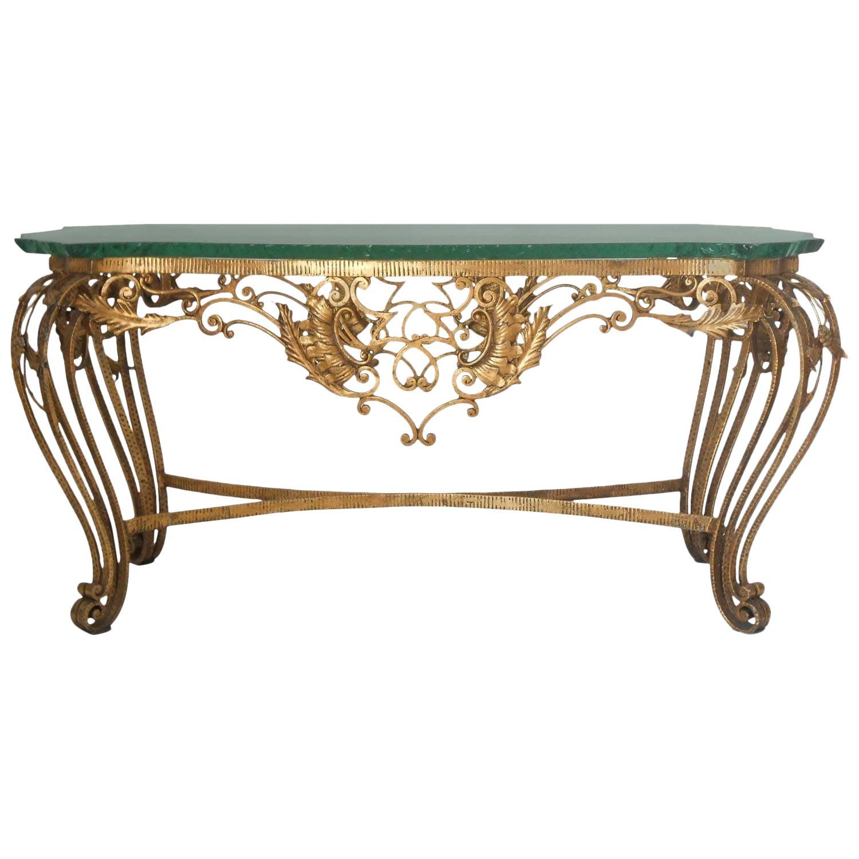 Italian gilt wrought iron coffee table 1173aspectfitheight1600width1600
