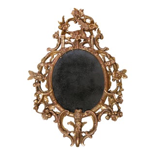 English George II Giltwood Mirror For Sale
