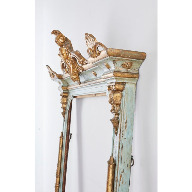 Rococo 19th Century Venetian Painted Mirror Frame or Picture Frame For Sale - Image 3 of 13