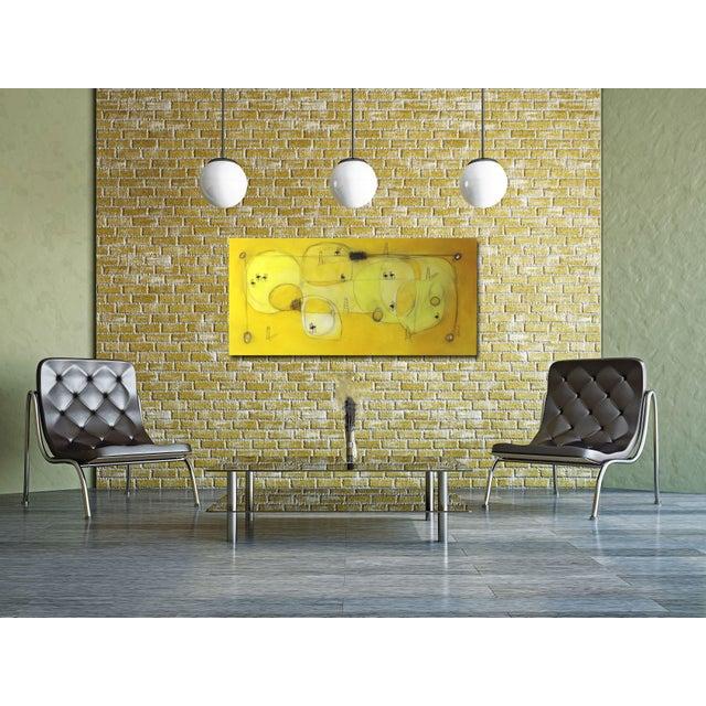 """Canvas """"Espacio De Sol"""" Original Abstract Artwork by Sergio Valenzuela For Sale - Image 7 of 9"""