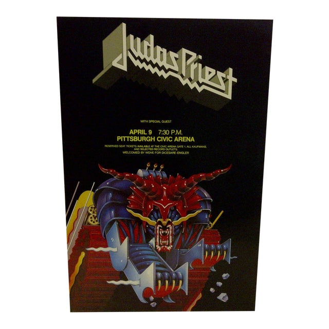 Judas Priest Concert Poster, Pittsburgh 1984 For Sale