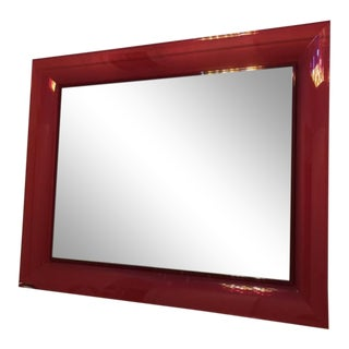 Kartell Red Frame Mirror For Sale