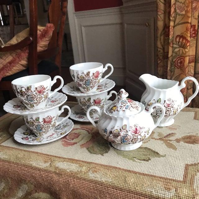 Staffordshire Bouquet England Tea / Coffee Set - 11 Piece For Sale - Image 9 of 9
