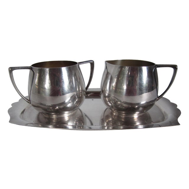 Empire Crafts Silver Plate Serving Set - Set of 3 - Image 1 of 5