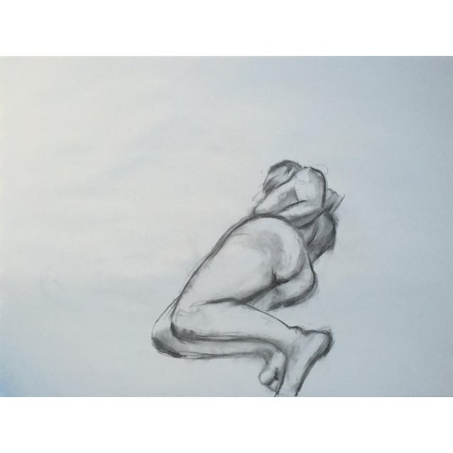 Charcoal Female Nude Line Drawing # 4 - Image 1 of 3