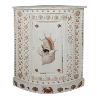 19th Century Swedish Painted Corner Cabinet For Sale