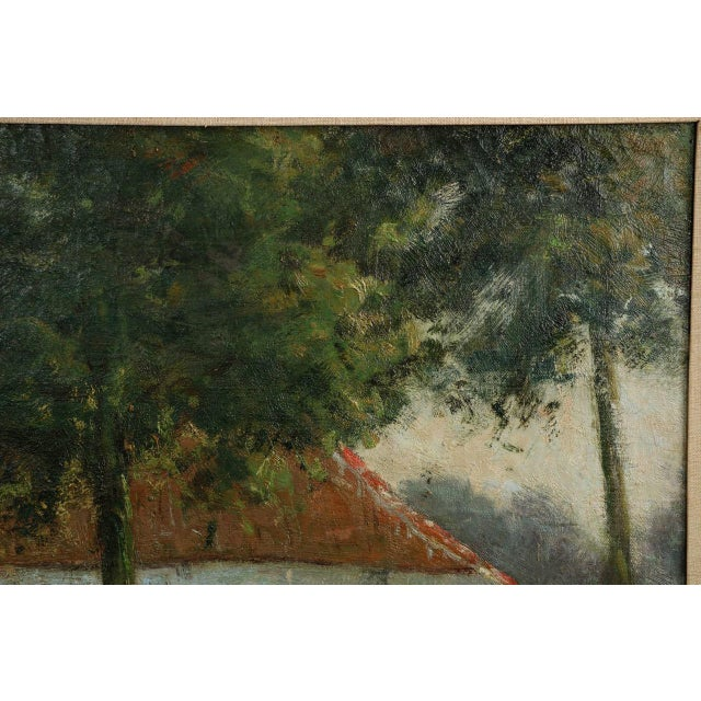 Lake Cottage Painting by Léon Riket - Image 5 of 9