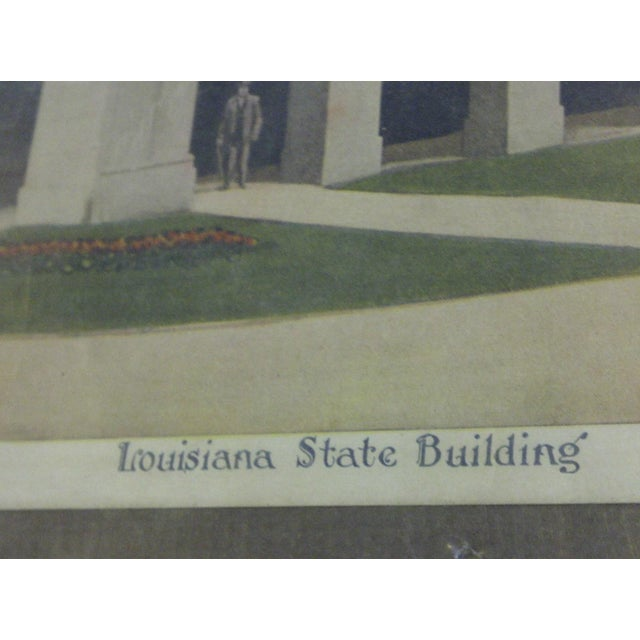 """Vintage """"Louisiana State Building"""" Print - Image 6 of 7"""