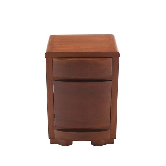 Art Deco Pair of Art Deco Walnut End Tables Nightstands For Sale - Image 3 of 9