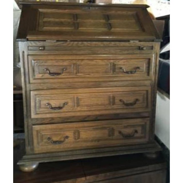 Vintage Roll Top Desk With Lock & Key - Image 5 of 7