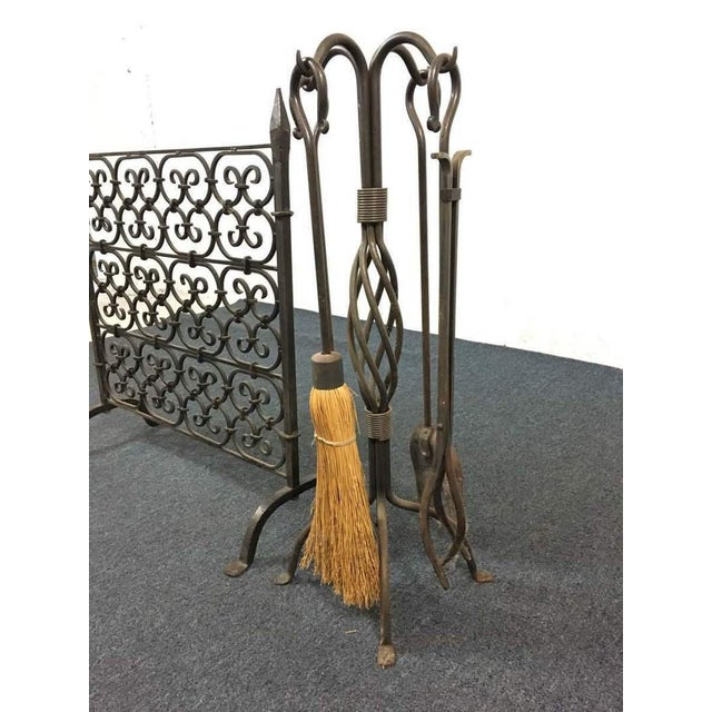 Fireplace Scroll Rack and Tools - A Pair - Image 4 of 5