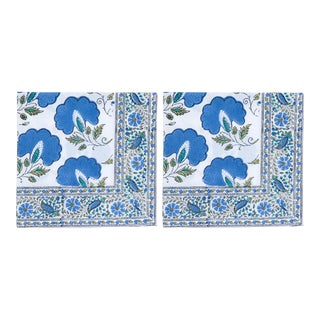 Janvi Napkins, Blue - A Pair For Sale