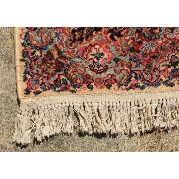 "Antique Karastan Kirman Wool Rug - 5′8″ x 9′7"" - Image 5 of 5"