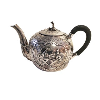 Antique English Sterling Silver Teapot For Sale