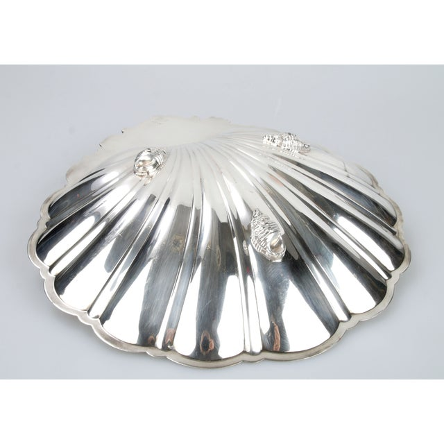 Signed Silver on Copper Clam Shell Bowl For Sale In Miami - Image 6 of 10