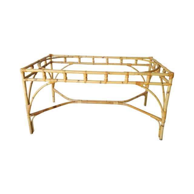Rattan Chinese Chippendale Dining Table For Sale