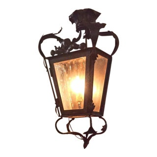 Pair of Mid-Century Bronze Lanterns