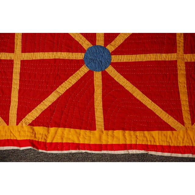 Folky and Early 20th Century Afro-American Quilt from Alabama For Sale - Image 4 of 7