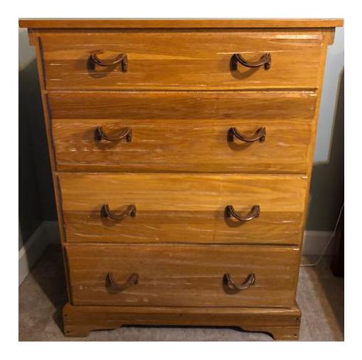 1960s Abstract A. Brandt Ranch Oak Furniture Dresser