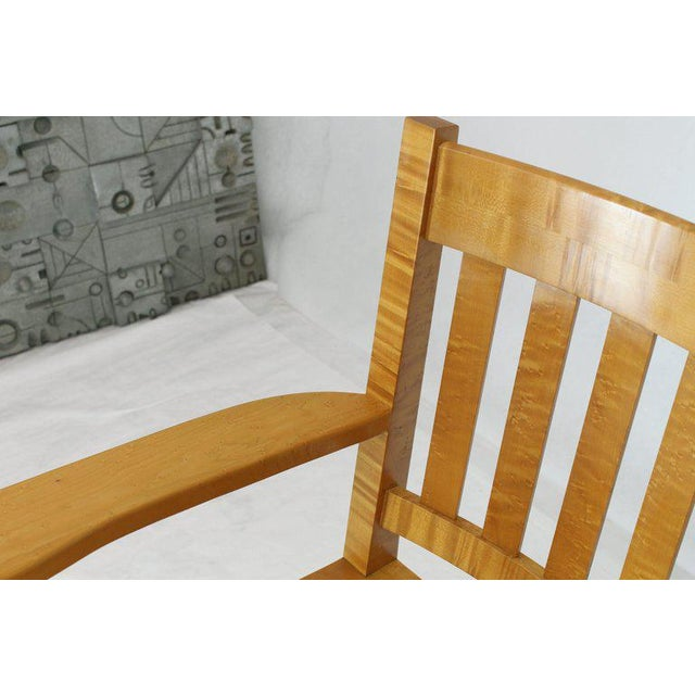 Solid Brid's-Eye Maple High Pool Chairs Bar Stools For Sale - Image 12 of 13