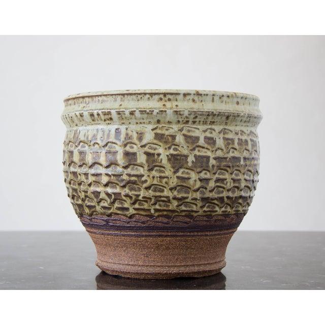 Textured Stoneware Garden Pot - Image 3 of 8
