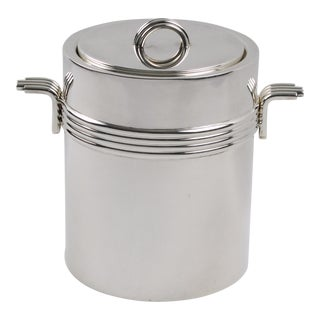Christian Dior Mid-Century Modern Silver Plate Ice Bucket For Sale
