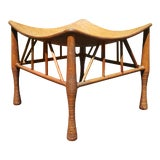 """Image of Egyptian Revival Ethnic """"Thebes"""" Stool For Sale"""