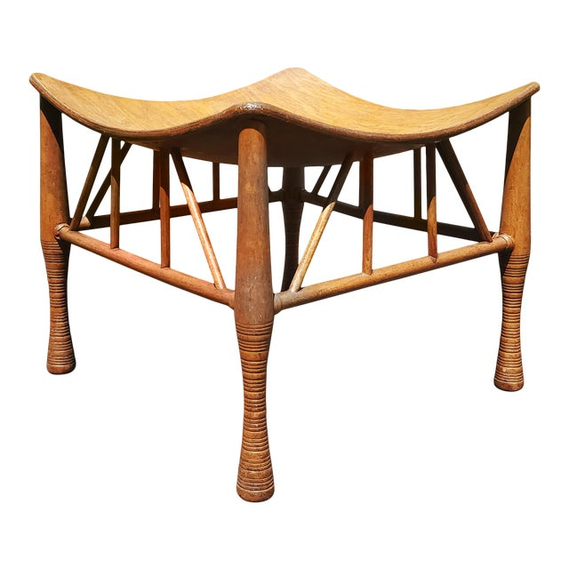 """Egyptian Revival Ethnic """"Thebes"""" Stool For Sale"""