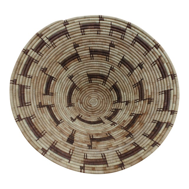 Tohono O'odham (Papago) Basket with Horses, Circa 1940's For Sale