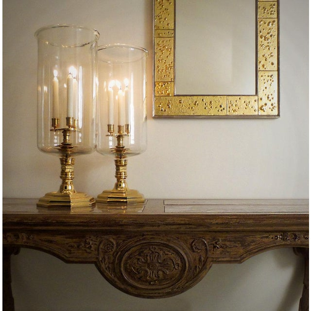 Golden Phase Mirror For Sale - Image 5 of 6