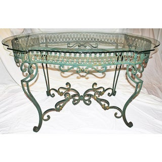 Green Wrought-Steel Dining Table Preview