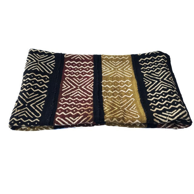 African Bogolan Mali Mud Cloth Textile For Sale - Image 3 of 8