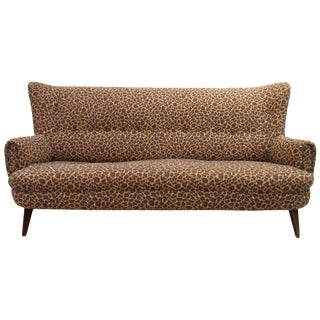 Mid-Century Modern European Settee -- Sofa For Sale