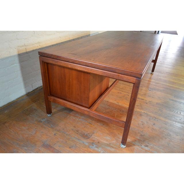 Jens Risom Design Jens Risom Designs Walnut Executive/Partner's Desk For Sale - Image 4 of 7