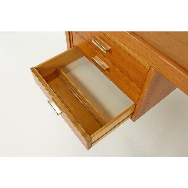 Farso Stolefabrik for Maurice Villency Mid Century Danish Teak Desk For Sale - Image 12 of 13