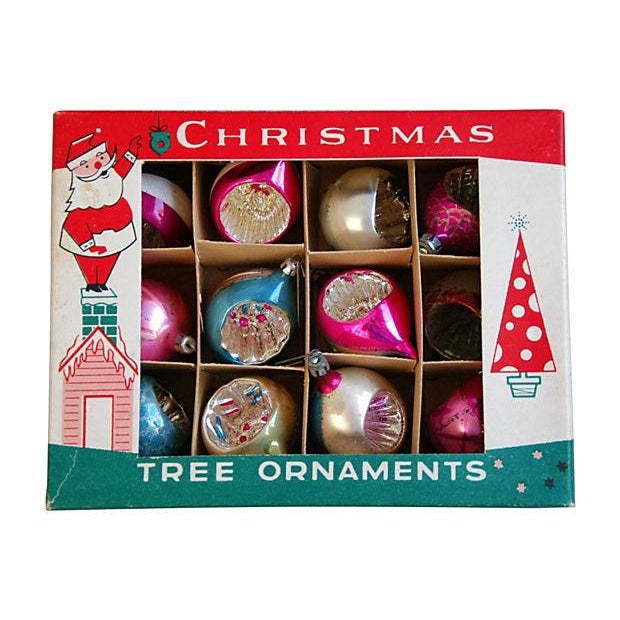 1950s Fancy Indent Christmas Ornaments - Set of 12 - Image 4 of 5