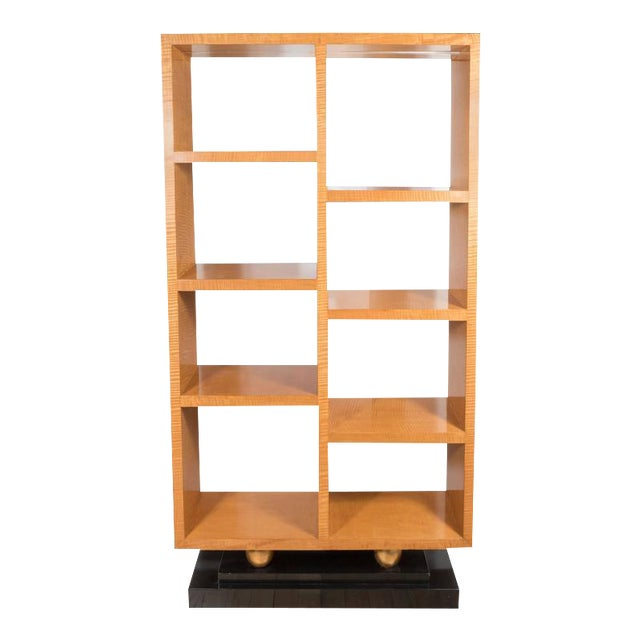 American Art Deco Style Illuminated Presentation Shelving Unit or Bookcase For Sale